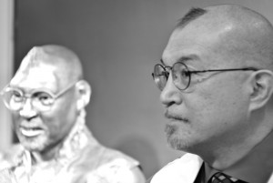 Fred Ho & his sculpture