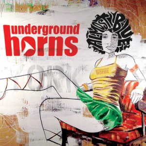 Underground Horns ALMOST BLUE CD cover