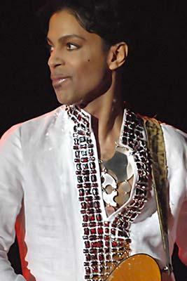 Prince performing at Coachella 2008