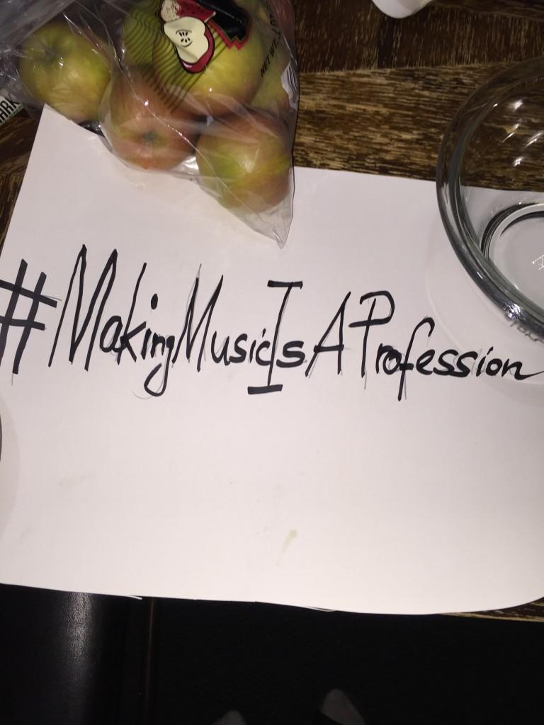 #MakingMusicIsAProfession