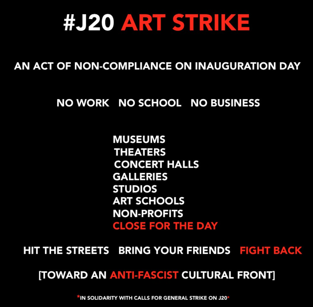 The Arts Strike 2017 poster