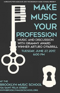 Arturo O'Farrill talk event poster
